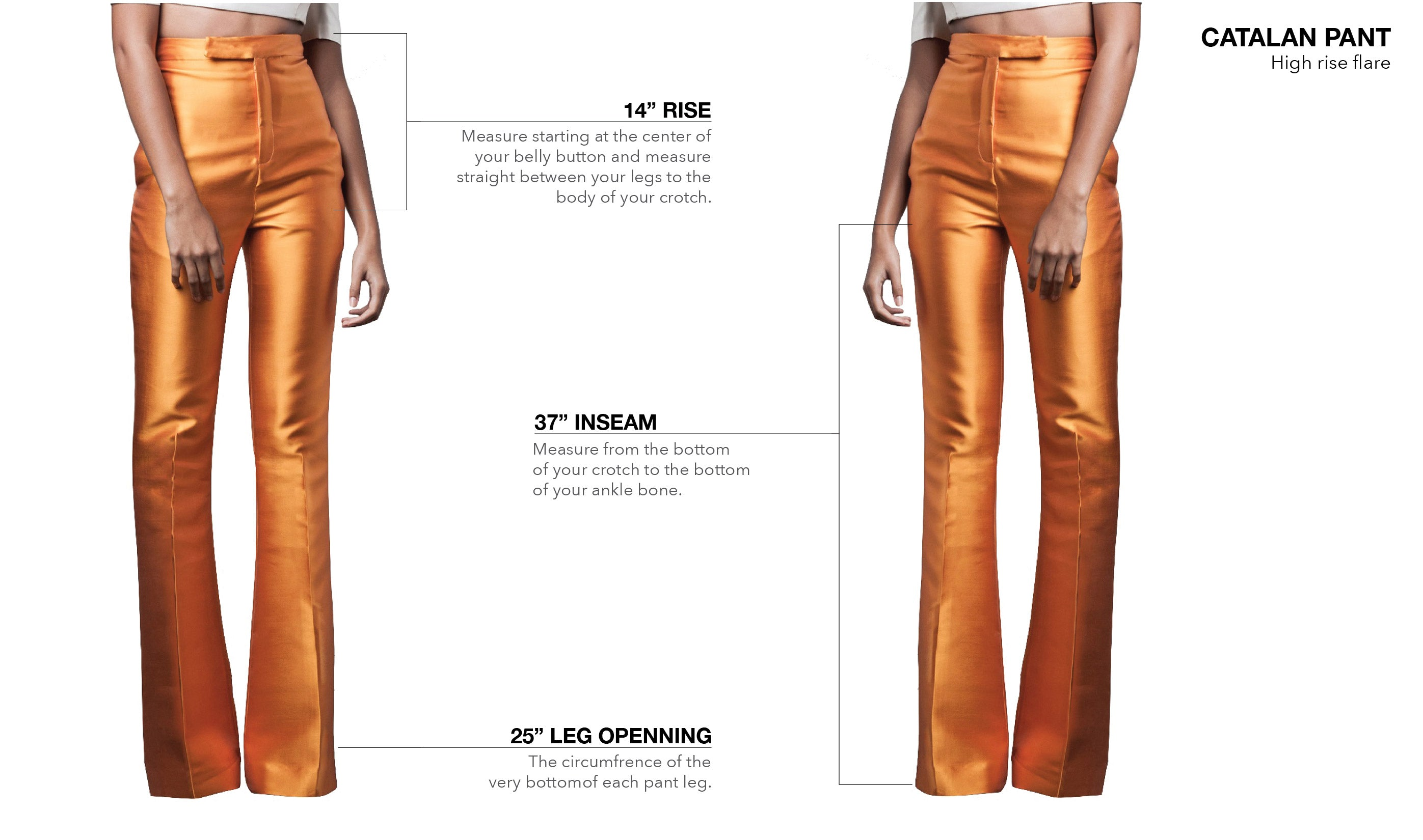 WASHINGTON ROBERTS CATALAN PANT - FIT GUIDE
