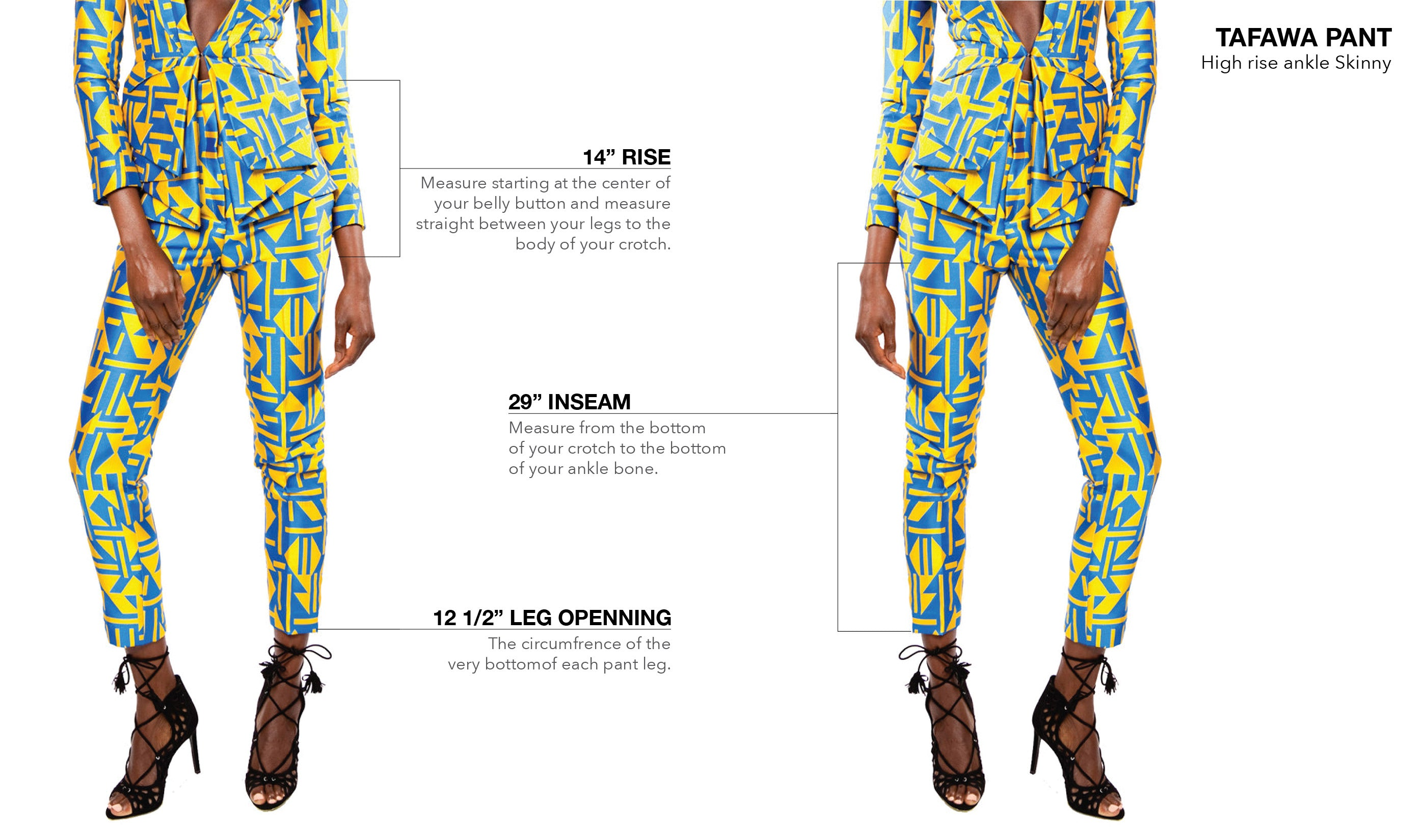 WASHINGTON ROBERTS TAFAWA PANT - FIT GUIDE