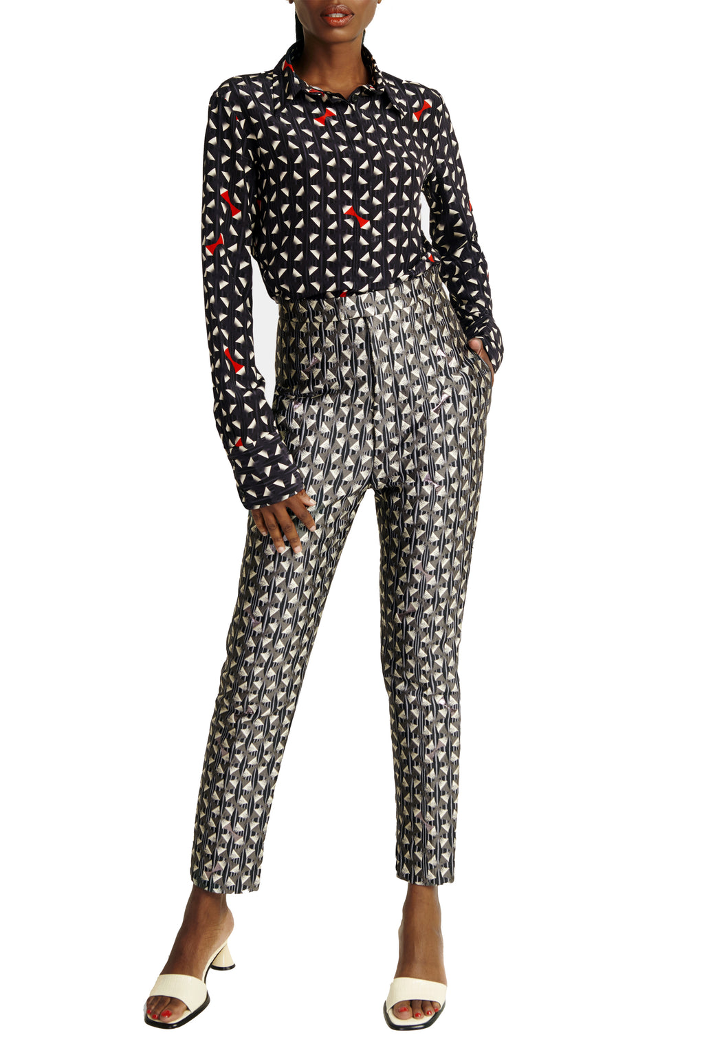 Washington Roberts- Osa Shirt-Blouse with Tafawa Pant-Trouser Womens