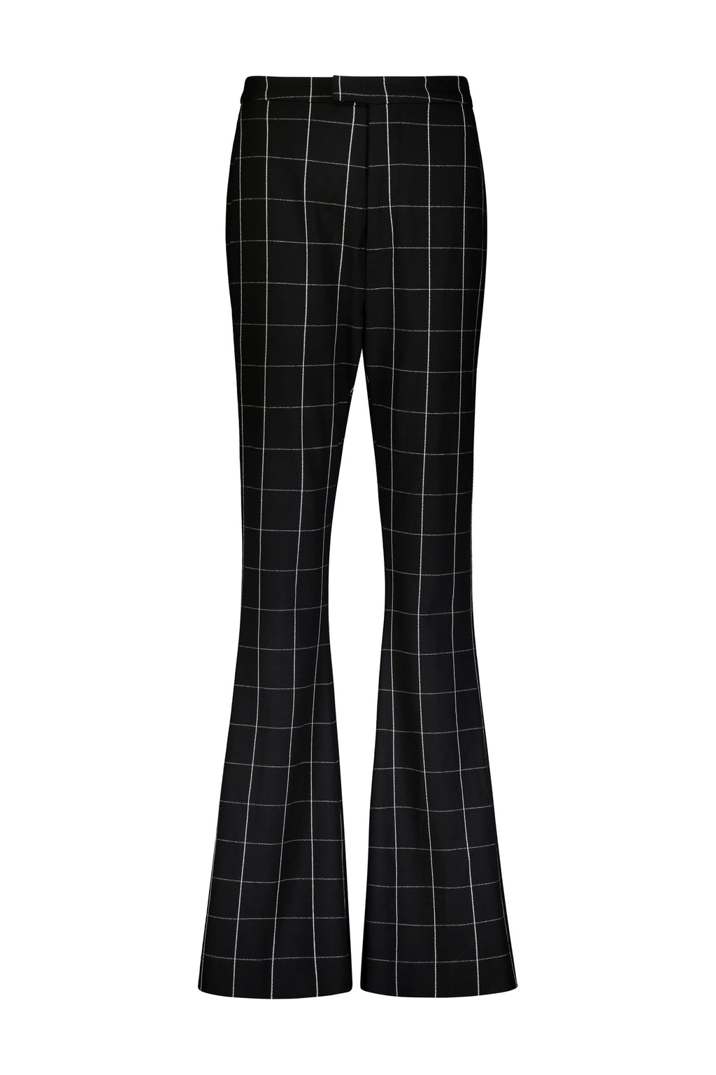 WashingtonRoberts CATALAN PANT Black & White Windowpane Trouser