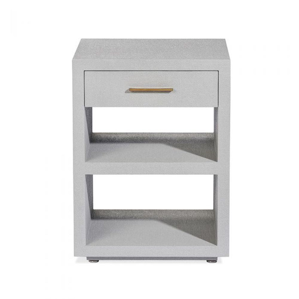 LIVIA SMALL BEDSIDE CHEST - GREY