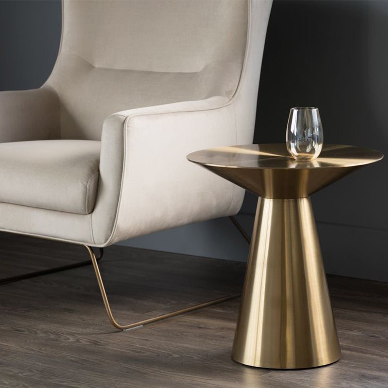 Carmel Side Table - Yellow Gold