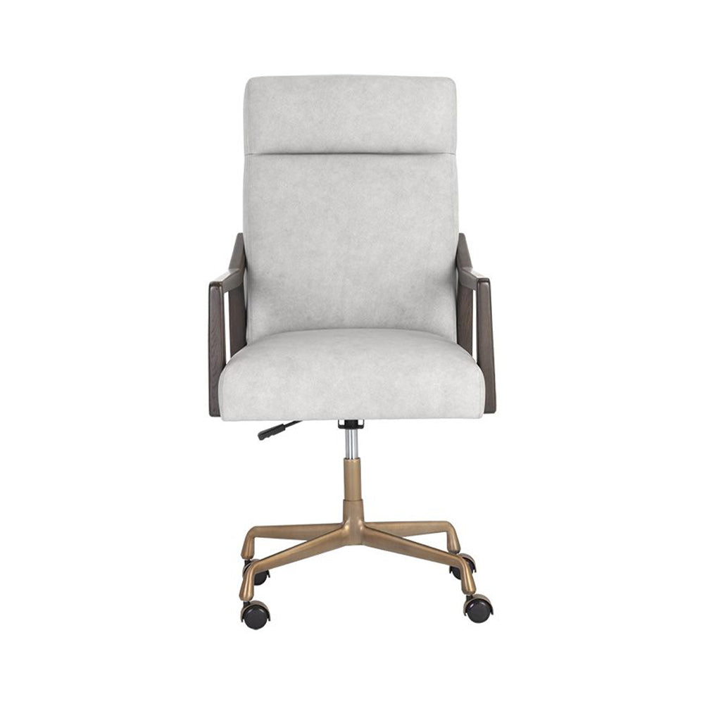 Collin Office Chair - Saloon Light Grey Leather