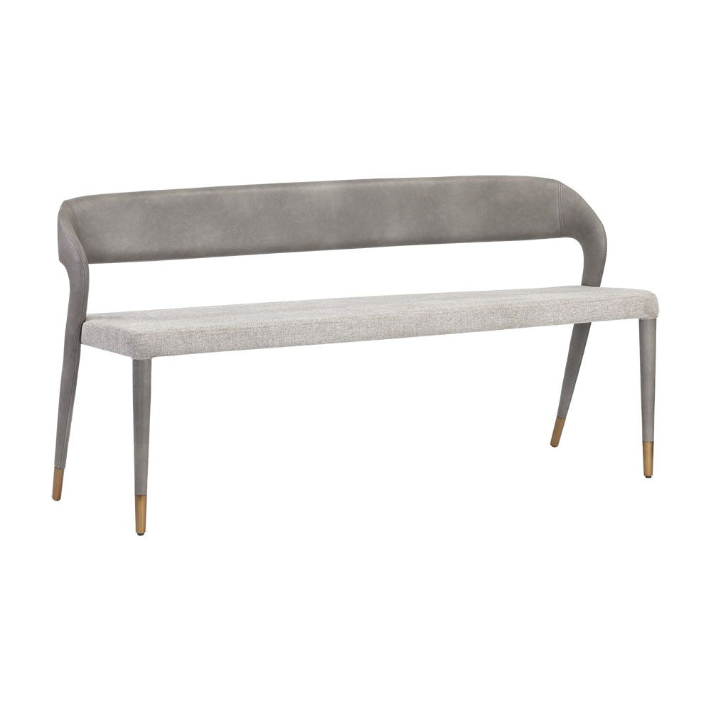 Madura Banquette - Belfast Heather Grey / Bravo Metal