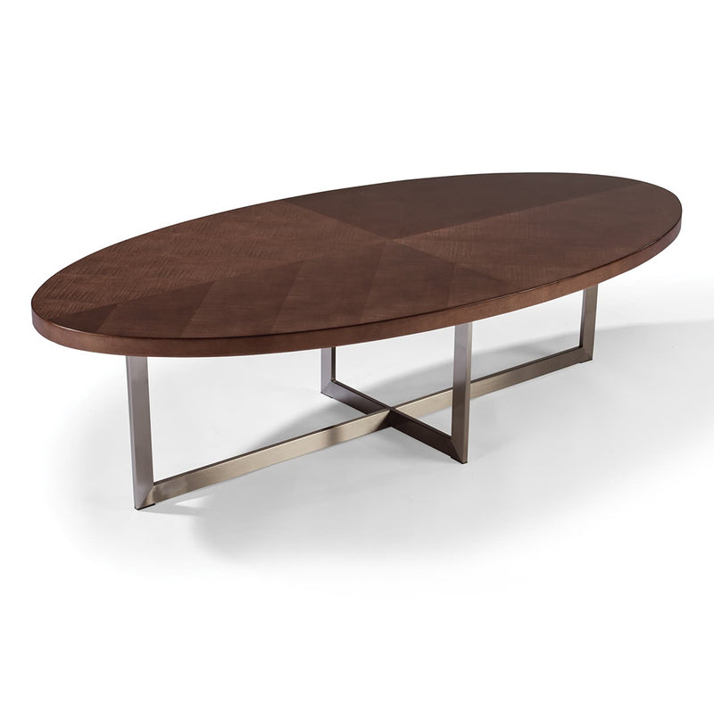 Mabel Maple Oval Cocktail Table