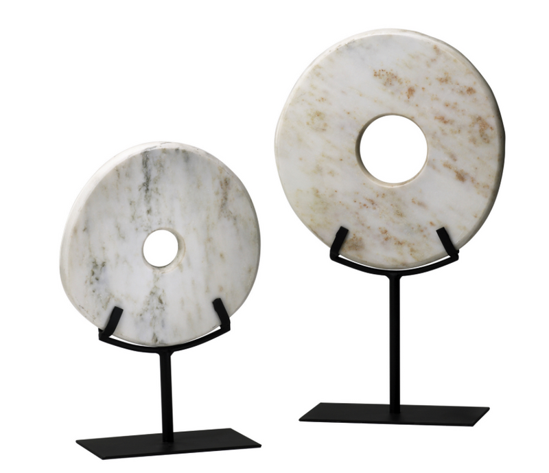 White Disk on Stand - SM