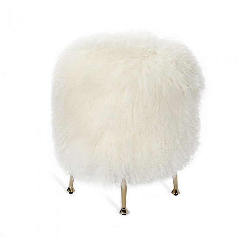 Antonia Stool - Ivory Sheepskin