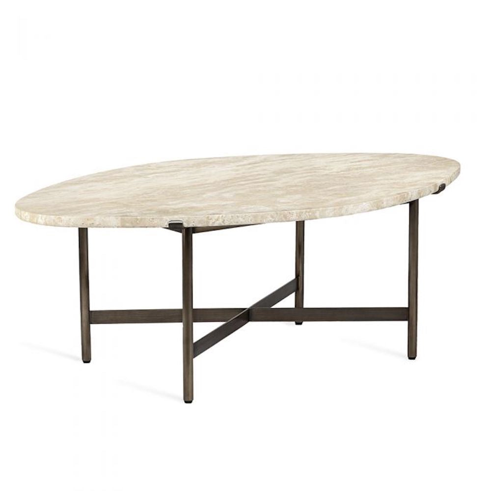 Arlington Cocktail Table - Travertine