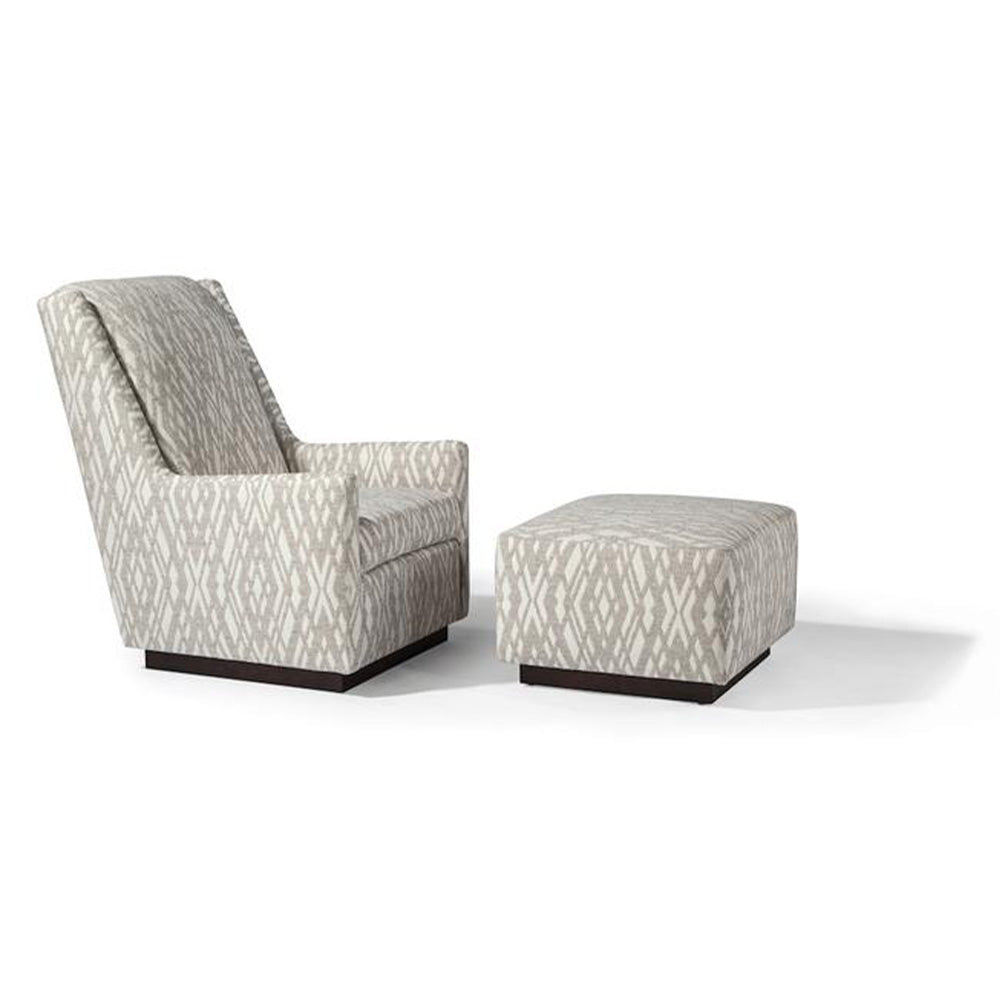 Clarence Swivel Lounge Chair and Ottoman