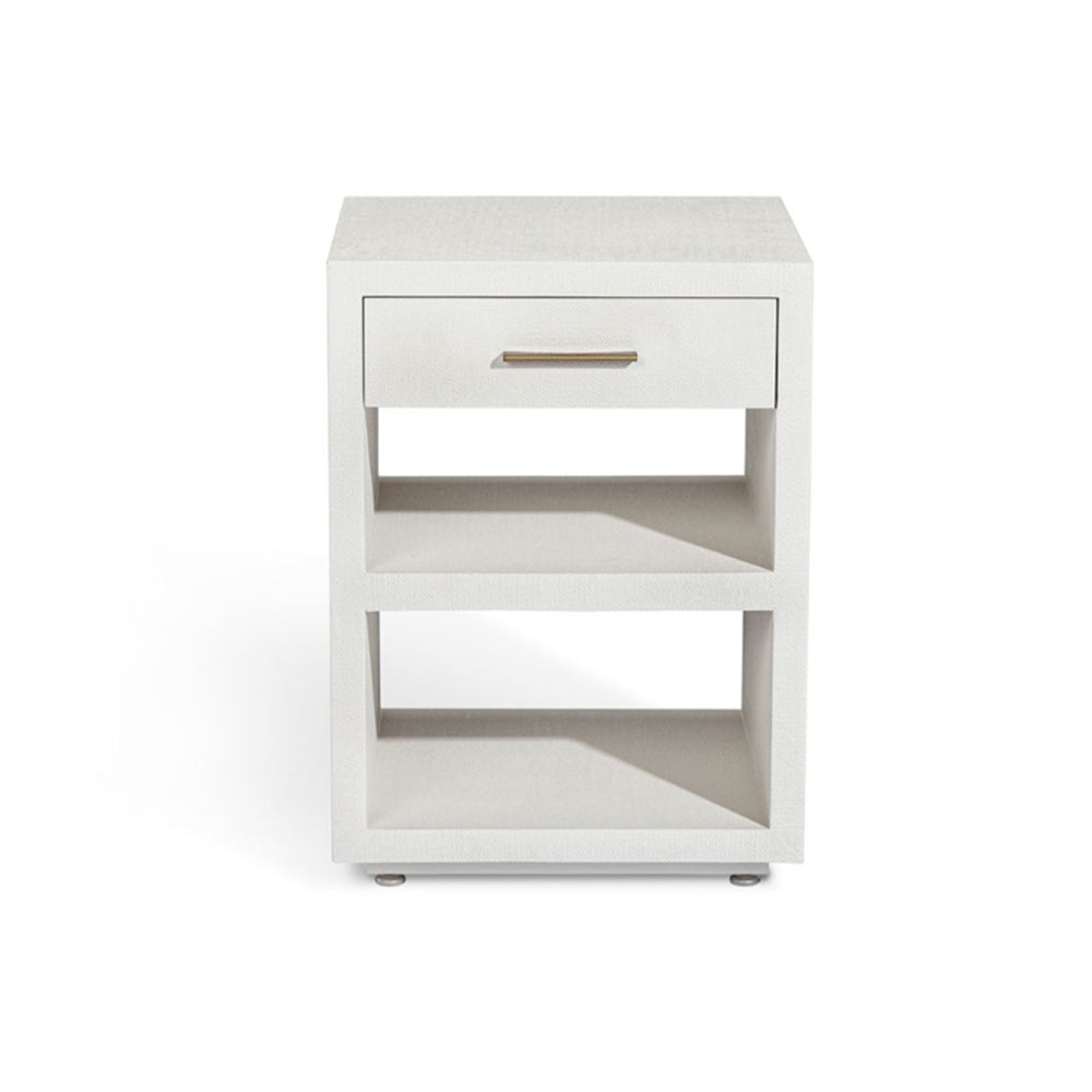 Livia Small Bedside Chest - White