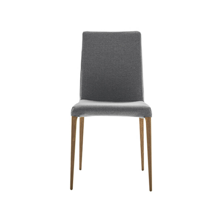 Aragona Dining Chair Gray Velvet