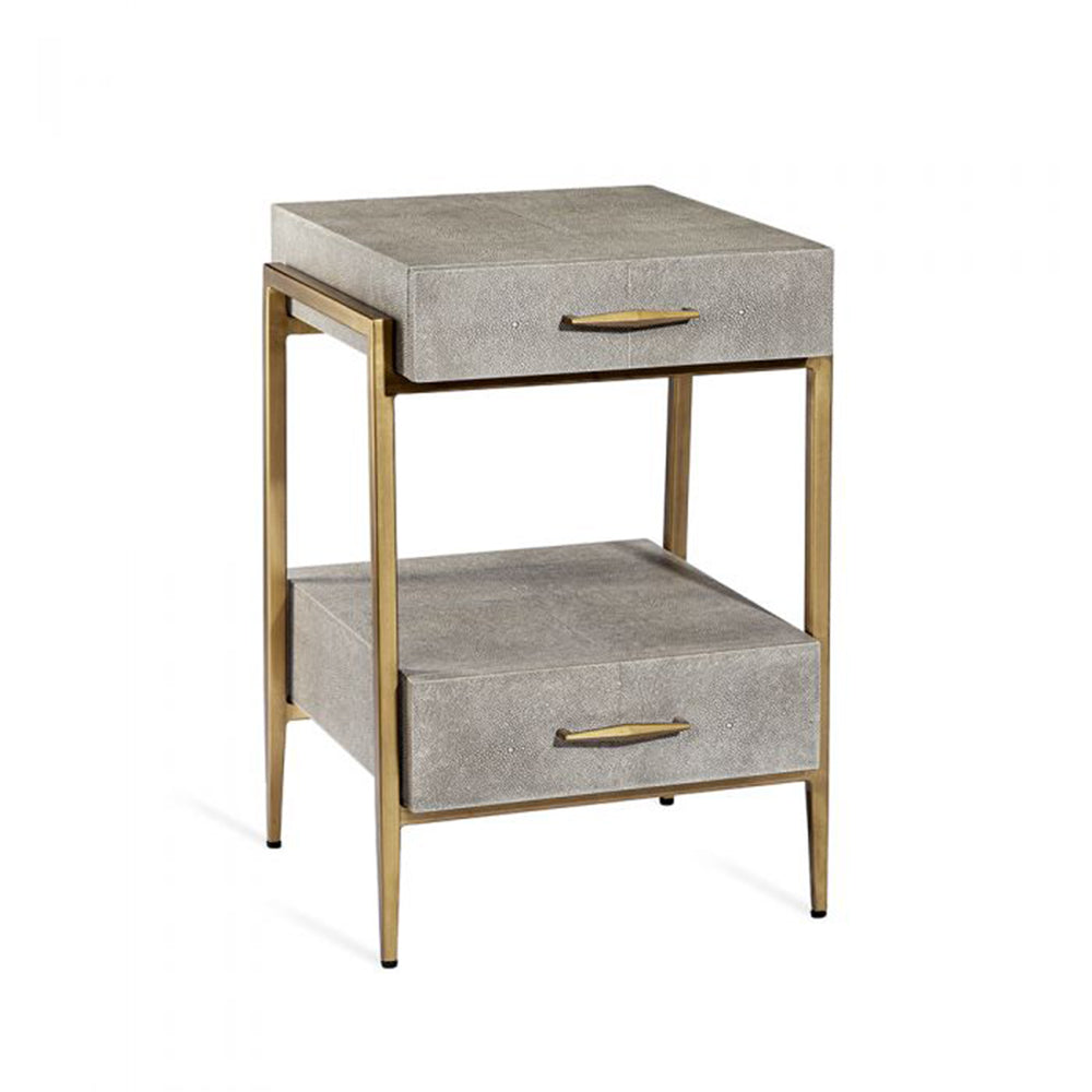 Morand Small Bedside Chest - Grey
