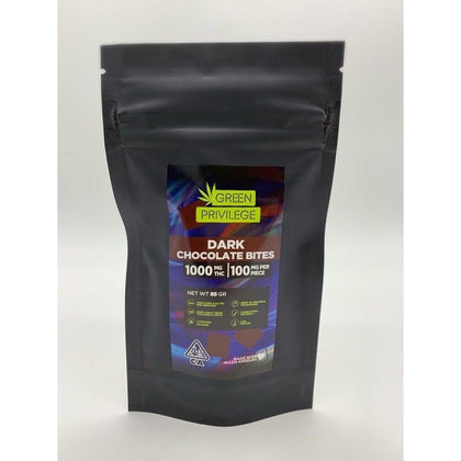 Green Privilege Bites - Dark Chocolate 1000mg