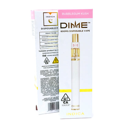DIME Disposable - Bubble Gum Kush 600mg