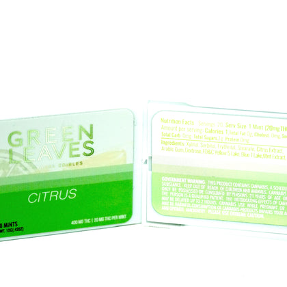 Green Leaves THC Mints - Citrus 400mg