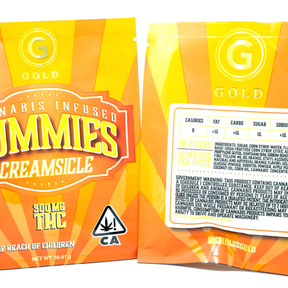 Gold Gummies Creamsicle 300mg