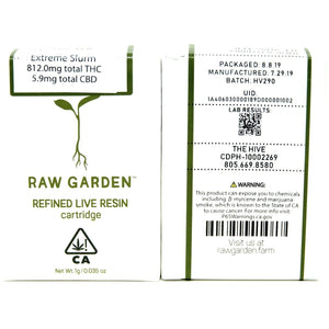 Raw Garden Live Resin Cartridge - Extreme Slurm 1000mg