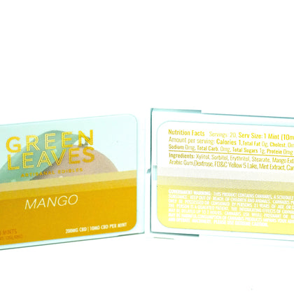 Green Leaves CBD Mints - Mango 200mg