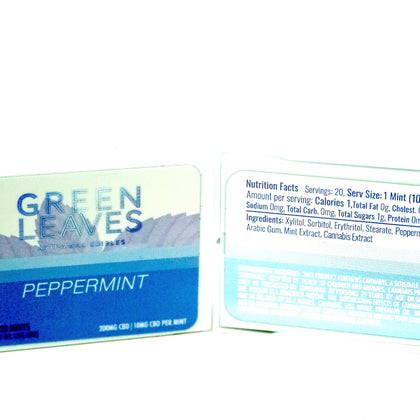 Green Leaves CBD Mints - Peppermint 200mg