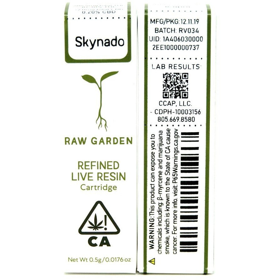 Raw Garden Live Resin Cartridge - Skynado 500mg