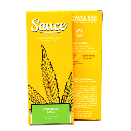 Sauce Bar Disposable - Sour Diesel 1000mg