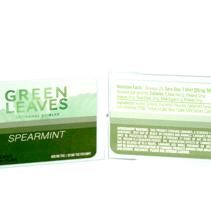 Green Leaves THC Mints Spearmint 400mg