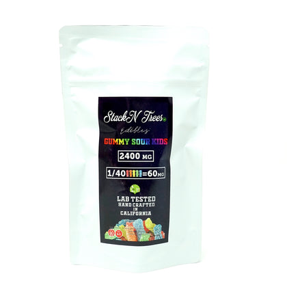 Stack N' Trees Gummy - Sour Kids 2400mg