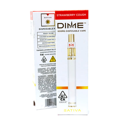 DIME Disposable - Strawberry Cough 600mg