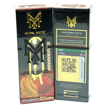 Muha Meds Cartridge - Strawanana 1000mg