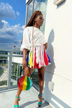 Load image into Gallery viewer, Rainbow flare mini dress