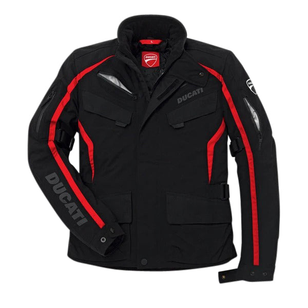 Ducati fabric jacket Tour 14 Rev'it black motorcycle jacket