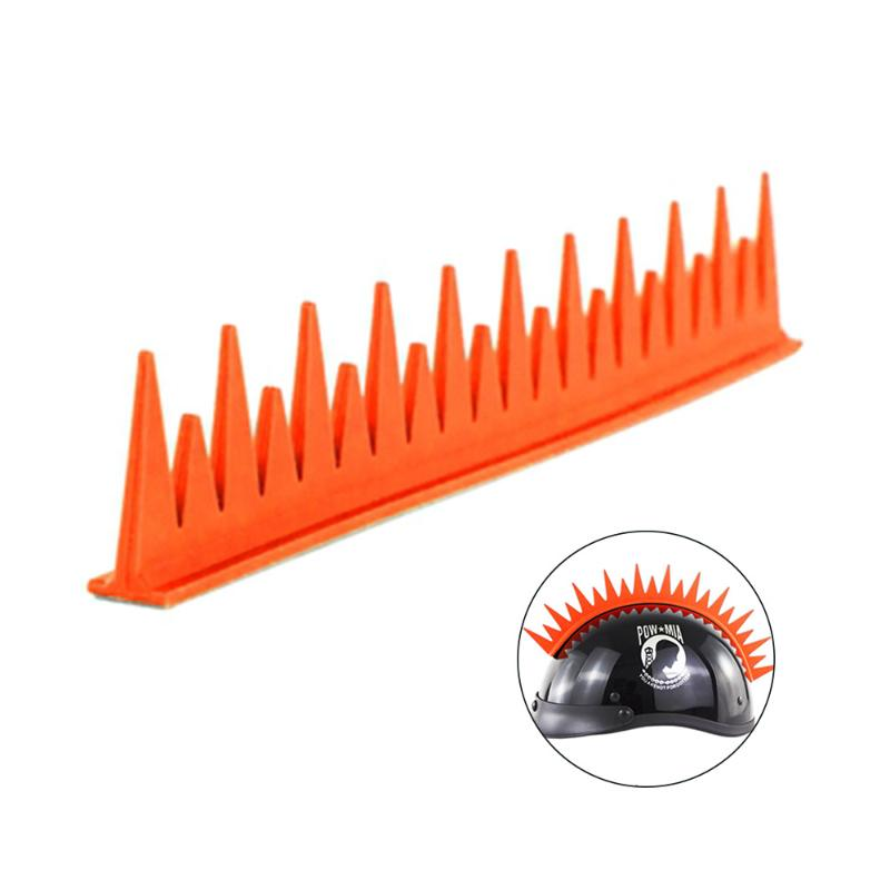 Motorcycle Helmet Mohawk Rubber Spike Strip Sticker