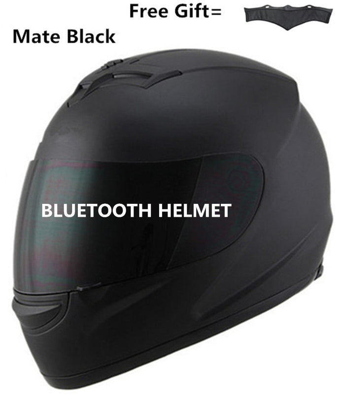 Bluetooth Helmet Dark lens With Built-In Intercom music phone call