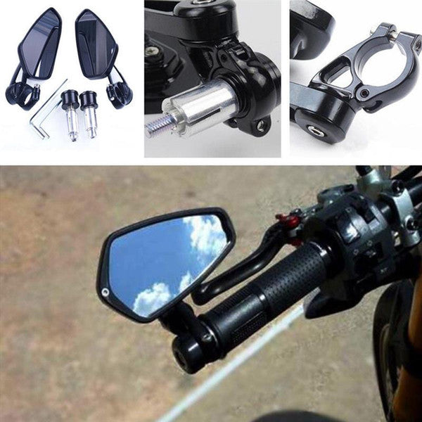 Universal Motorcycle Handle Bar End Mirrors
