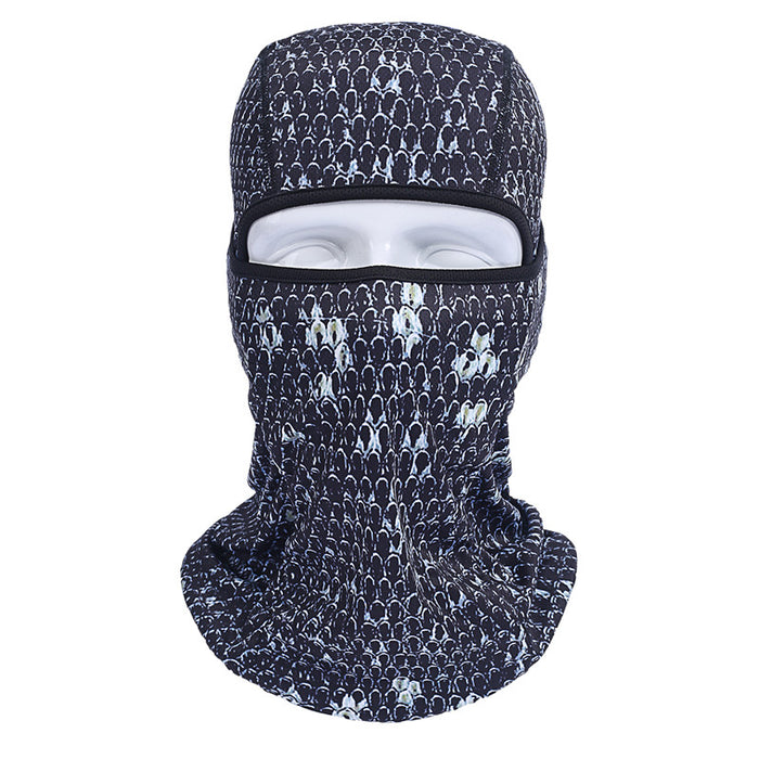 3D Outdoor Motorcycle Balaclava UV Full Face Mask