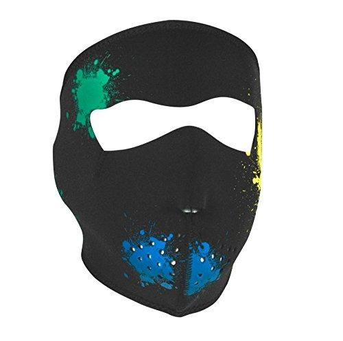 Neoprene Glow in the Dark Splatter Full Face Mask