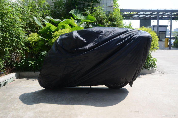 Black Waterproof Dust-proof Motorcycle Cover Protector