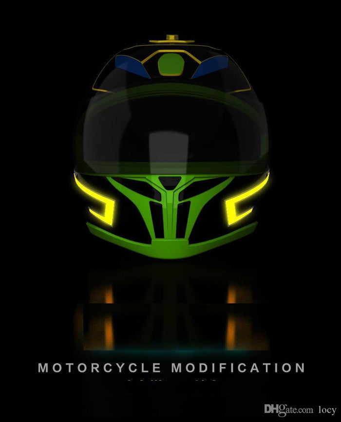New Arrival Motorcycle Helmet EL Cold Light Helmet Light Strip Night Signal Luminous Modified Strip Helmet Sticker