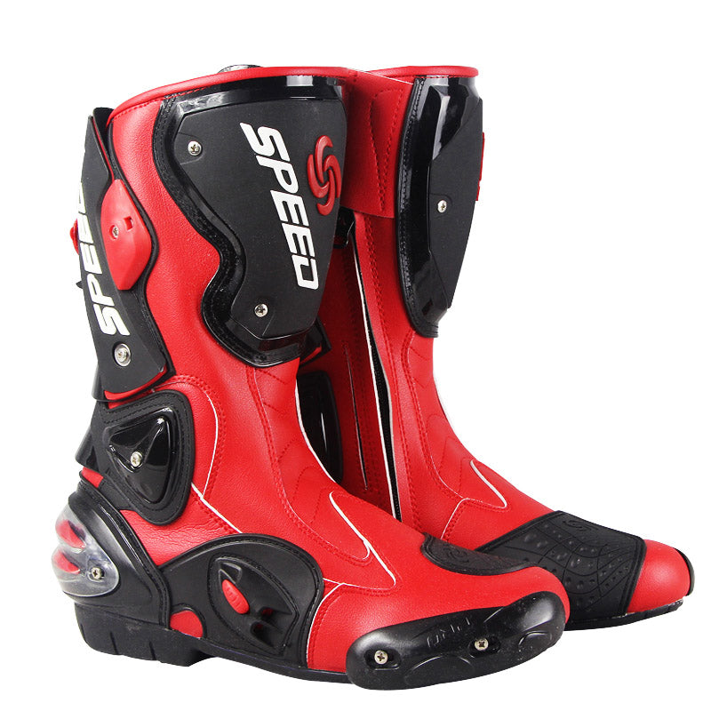SPEED Professional Motorcycle Racing Leather Boots