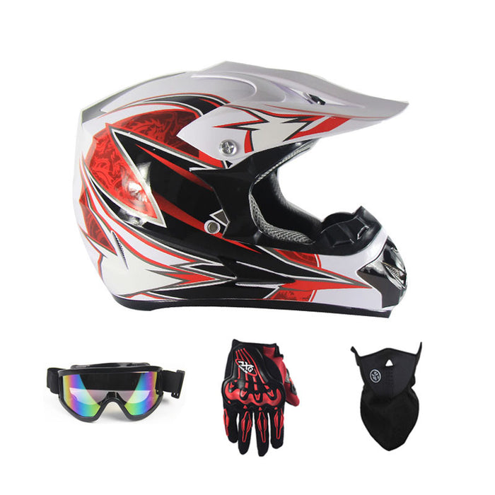 Cartoon Children Motorcycle Boy Girl dirt bike atv motocross off road Racing Helmet