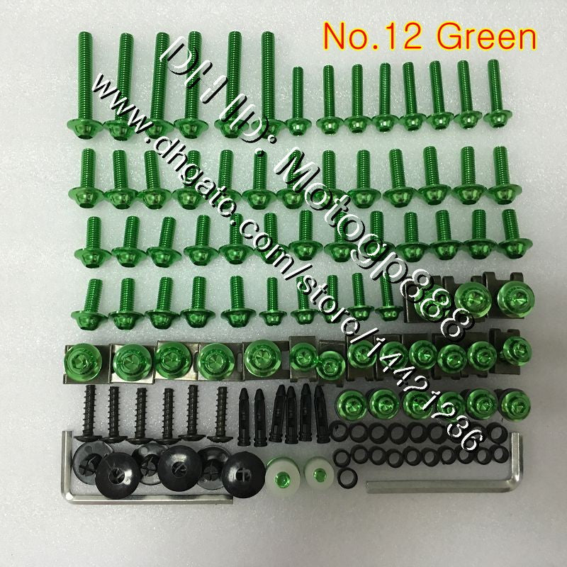 OEM Body full bolts kit For YAMAHA YZFR1 10 11 12 YZF R1 YZF 1000 YZF1000 YZF-R1 2010 2011 2012 GP82 Fairing Nuts screw bolt screws Nut kit