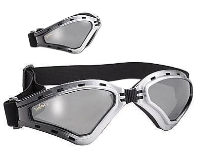 Airfoil Foldable Silver Goggles With Silver Mirror Lens and UV 400 Protection