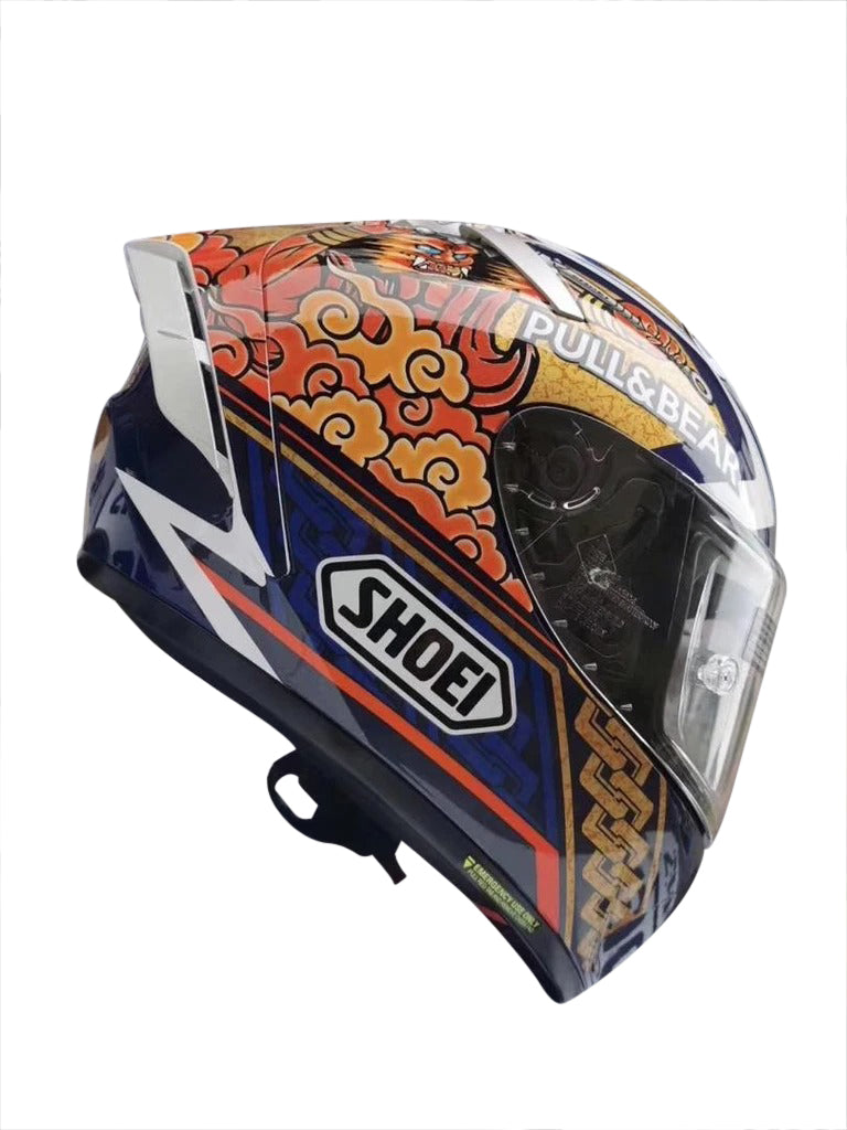 Shoei X14 Blue Lucky Cat II HELMET Full Face