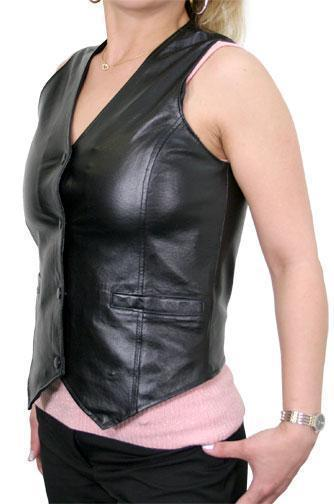 Classic Ladies Leather Vest