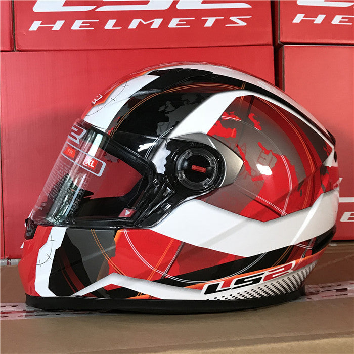 LS2 Motorcycle Full Face( FF358 )Racing Helmet