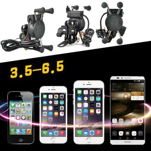 Universal Motorcycle Cellphone Mount + USB Charger
