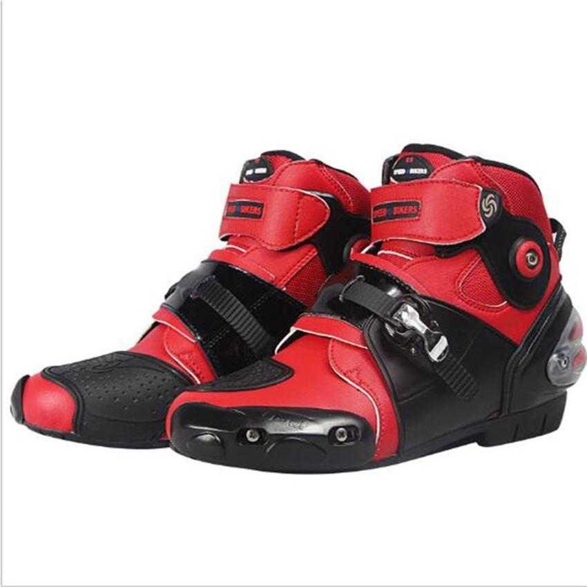 Leather Motorcycle Protector Microfiber Boots