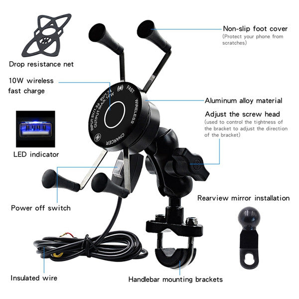 Motorcycle 360°Adjustable Cell Phone Holder