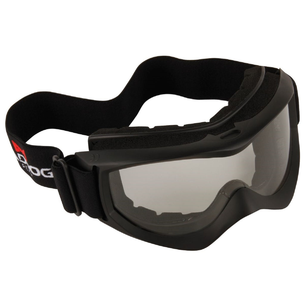 ATV Black Clear Lens Glass Goggles