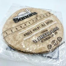 "Load image into Gallery viewer, 12"" Tortillas (whole wheat)"